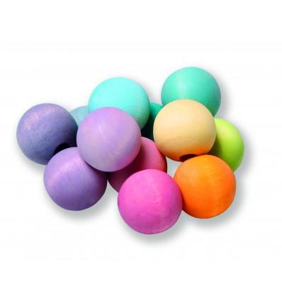 Sonall Braçalet de boles de colors pastel Grimm's