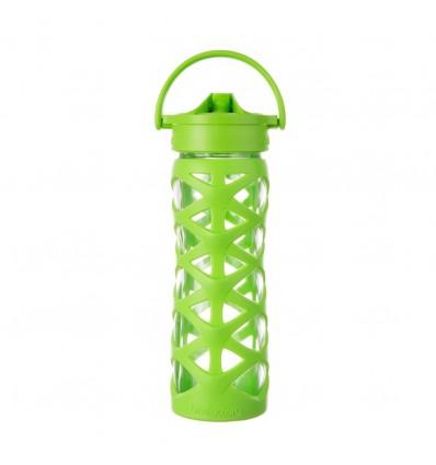 Botella de vidrio 470 ml Axis Straw Cap Lifefactory La Panxamama