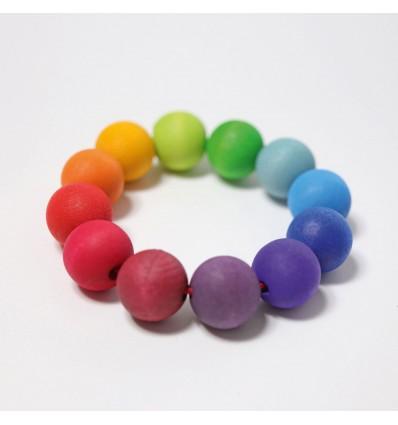 Mossegador pulsera amb boles de colors Grimm's
